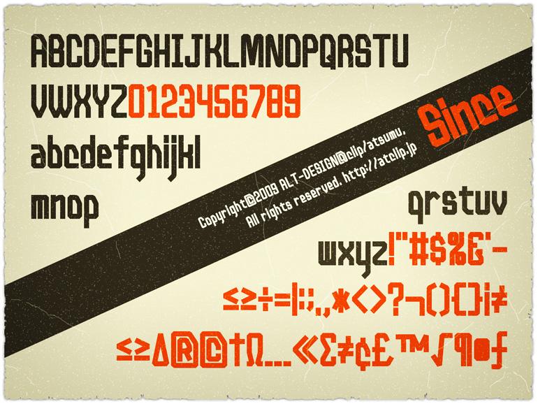 ビンテージっぽい英語フォントが無料でダウンロードできます