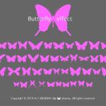 蝶のフォント Butterfly effect 個人商用可