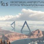 SFレトロな三角フォント「Trias」個人商用可